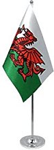 AZ FLAG Wales prestige Table Flag 6'' x