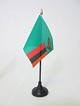 AZ FLAG Zambia Table Flag 4'' x