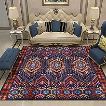 AZHLUF Bohemian Rug Yellow Red Brown Vintage