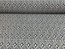 Aztec Diamond Indigo Blue Printed CottonCurtain