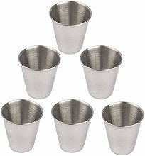 Azure Zone, 6 Pack Stainless Steel Shot Cups Metal