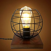 AZXAZ Metal Cage Table Lamp Retro Led Small