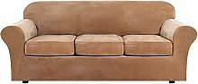 AZYJBF High Stretch Plush Sofa Cover 4 Piece Sofa
