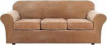 AZYJBF High Stretch Plush Sofa Cover 4 Piece Sofa
