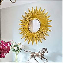 Azyq Round Sunburst Wall Mirrors for Living Room