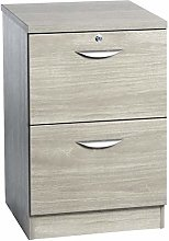 B-2DF-IN Two Drawer Filing Cabinet Wooden Effect