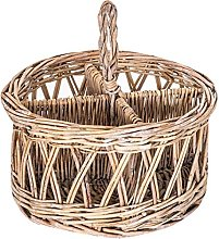 B AND B – Wicker Basket Organizer