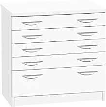 B-ARD-IN-WH White A2 Plan Chest Drawing Cabinet