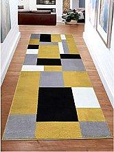 B&B Runner Rug for Hallway Geometric Pattern Hall