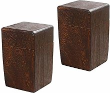 B Blesiya 2Pack Square Wooden Tea Box Maccha