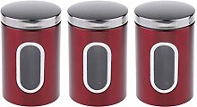 B Blesiya 3X Stainless Steel Food Storage Canister