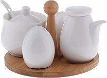 B Blesiya 5 Pack Ceramic Oil Vinegar Salt Pepper