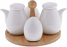 B Blesiya 5pcs Ceramic Oil Vinegar Salt Pepper