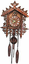 B Blesiya Decorative Wood Wooden Cuckoo Wall Clock