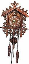 B Blesiya Decorative Wood Wooden Cuckoo Wall Clock