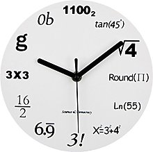 B Blesiya Vintage White Math Equation Clock Wall