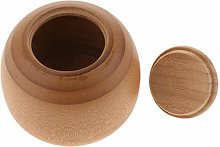 B Blesiya Wooden Bamboo Canister Jar Container