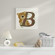 B Canvas Art HoneyBee Nursery
