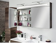 B.Clever 120 x 71cm Mirrored Wall Mounted Cabinet