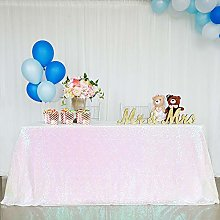B-COOL 60x102inches Sequin Tablecloth Seamless