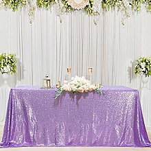 B-COOL Lavender Sequin Tablecloth Lilac Wedding