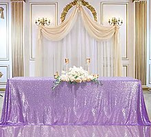 B-COOL Rectangle Sequin Tablecloth Lilac Sparkle