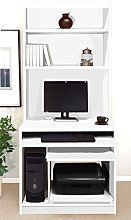 B-CWS-OF-IN-WH White Computer Workstation Desk