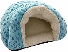 B/H Small Dog Bed,Plush Dog Bed,Pet kennel-blue_M