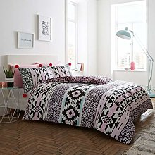 B&L Animal Aztec Pom Pom Violet Pink New