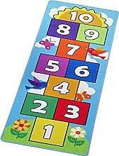 B/Q Nursery Rug Kids Hopscotch Floor Rug Carpets