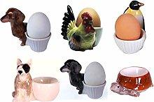 B2SEE LTD Egg Cup Ceramic Ensemble Set Animals