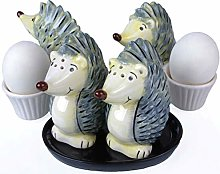 B2SEE LTD Hedgehog Salt and Pepper Shakers Egg Cup