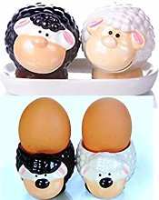 B2SEE LTD Sheep Salt and Pepper Shakers and Egg