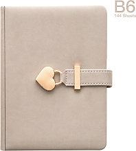 B6 Diary Heart Shaped Lock Diary with Lock and Key