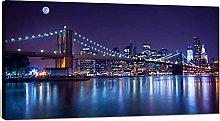 BABALQZU Brooklyn Bridge Canvas Wall Art Large