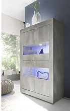 Babara Vitrine Glass 4 Door Display Cabinet Metro
