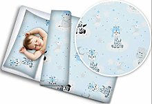 BABY 4PC BEDDING SET WITH PILLOW AND DUVET NURSERY