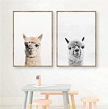 Baby Animal Alpaca Wall Art Canvas Print, Farm