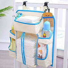Baby Bed Hanging Storage Bag,Toy Diapers Pocket