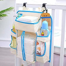 Baby Bed Hanging Storage Bag Toy Diapers Pocket