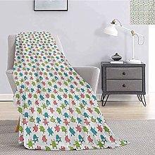 Baby Bedding Fleece Blanket Queen Size Aliens Cute