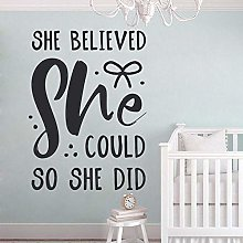 Baby Bedroom Quotations Decals, She Believes She