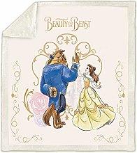 Baby Blanket Cartoon Blanket Beauty and the Beast