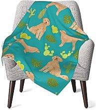 Baby Blanket Flannel Fleece Soft & Warm Doodle Dog