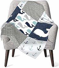 Baby Blanket Flannel Fleece Soft & Warm Nautical