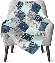 Baby Blanket Flannel Fleece Soft & Warm Woodland