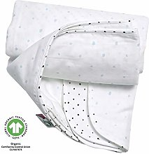 Baby Blanket GOTS Certified Organic Cotton 2-Ply