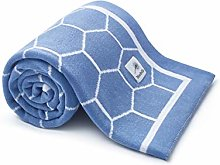 Baby Blanket - Honeycomb Blue