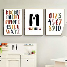 Baby Boy Custom Name Poster Letter Canvas Painting