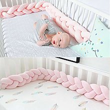Baby Crib Bed Bumper 2M Knotted Braided Plush